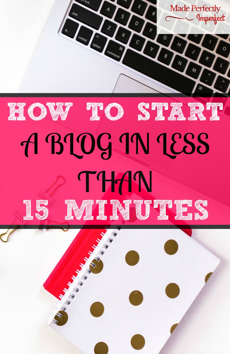 How to start a blog in less than 15 minutes I waited far too long to start! So glad I came across this, blogging has changed my life. Never would have imagined I could bring in so much money a month from my blog. Such a fun hobby!