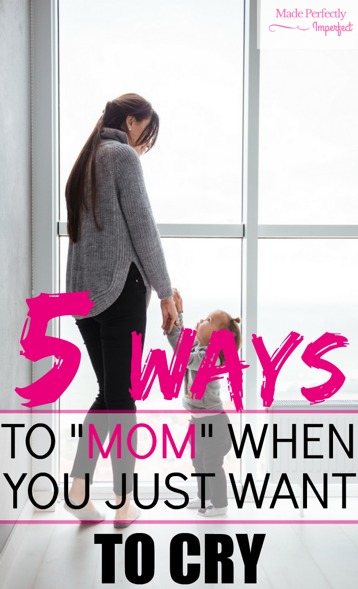 """5 Way's to mom when you just want to cry. Life can throw us a curve ball and when it comes to motherhood, there is no time to stop. When you experience an emotional bump in the road, use these 5 tips to help you """"MOM"""". So glad I came across this article! In such a crucial time too!"""