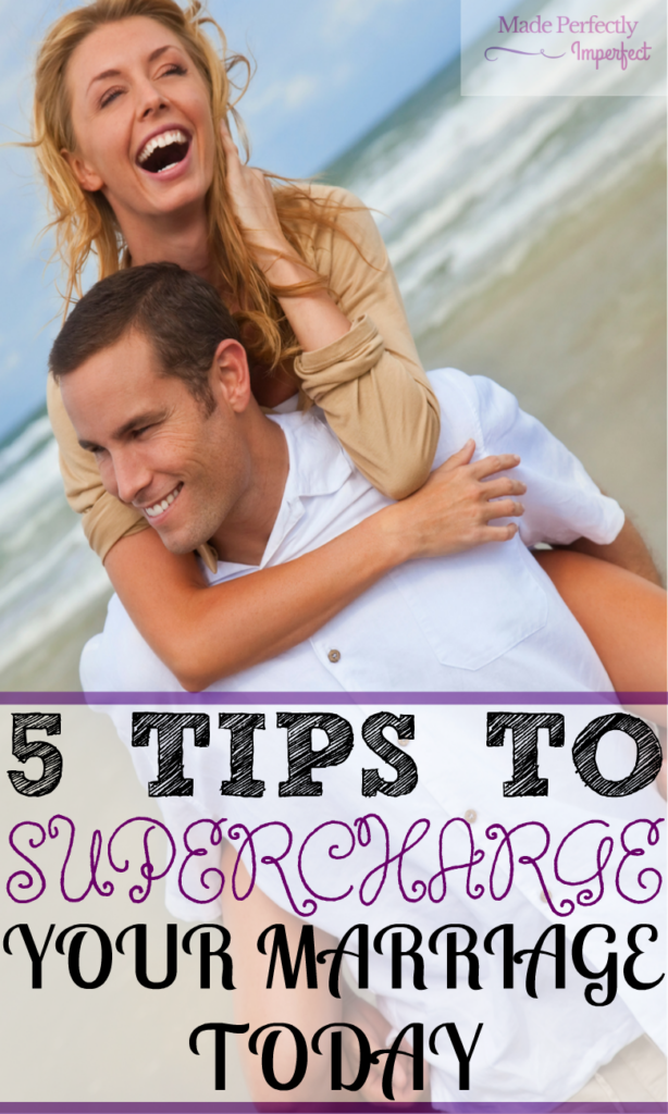 5 Tips to SUPERCHARGE Your Marriage Today Stop living in the day to day misery of a failing marriage. Apply these 5 tips to SUPERCHARGE your relationship today.