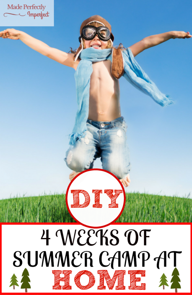 DIY 4 Weeks Of Summer Camp At Home Stop boredom in its tracks! Make summer memories with your kids that will last a lifetime. Week 2 looks AWESOME!